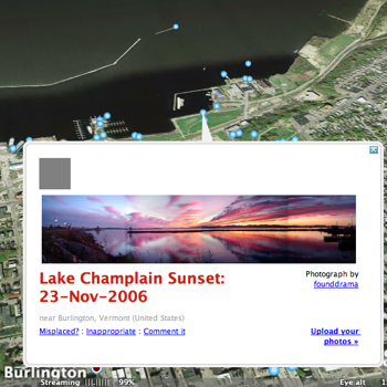 detail of one of my pictures as featured in Google Earth's Panoramio layer