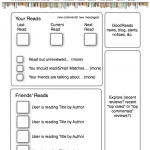 GoodReads landing page wireframe
