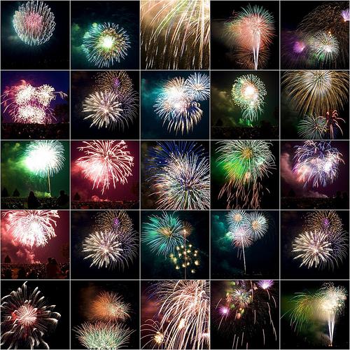 2008 4th Fireworks Mosaic