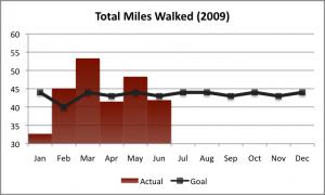 2009 Walking Goal as of Q2