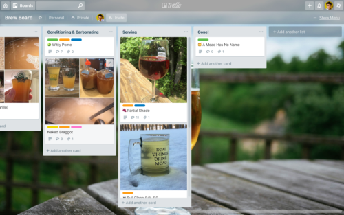 Last two columns of my Brew Board Trello board (plus one and a half from the previous screenshot).